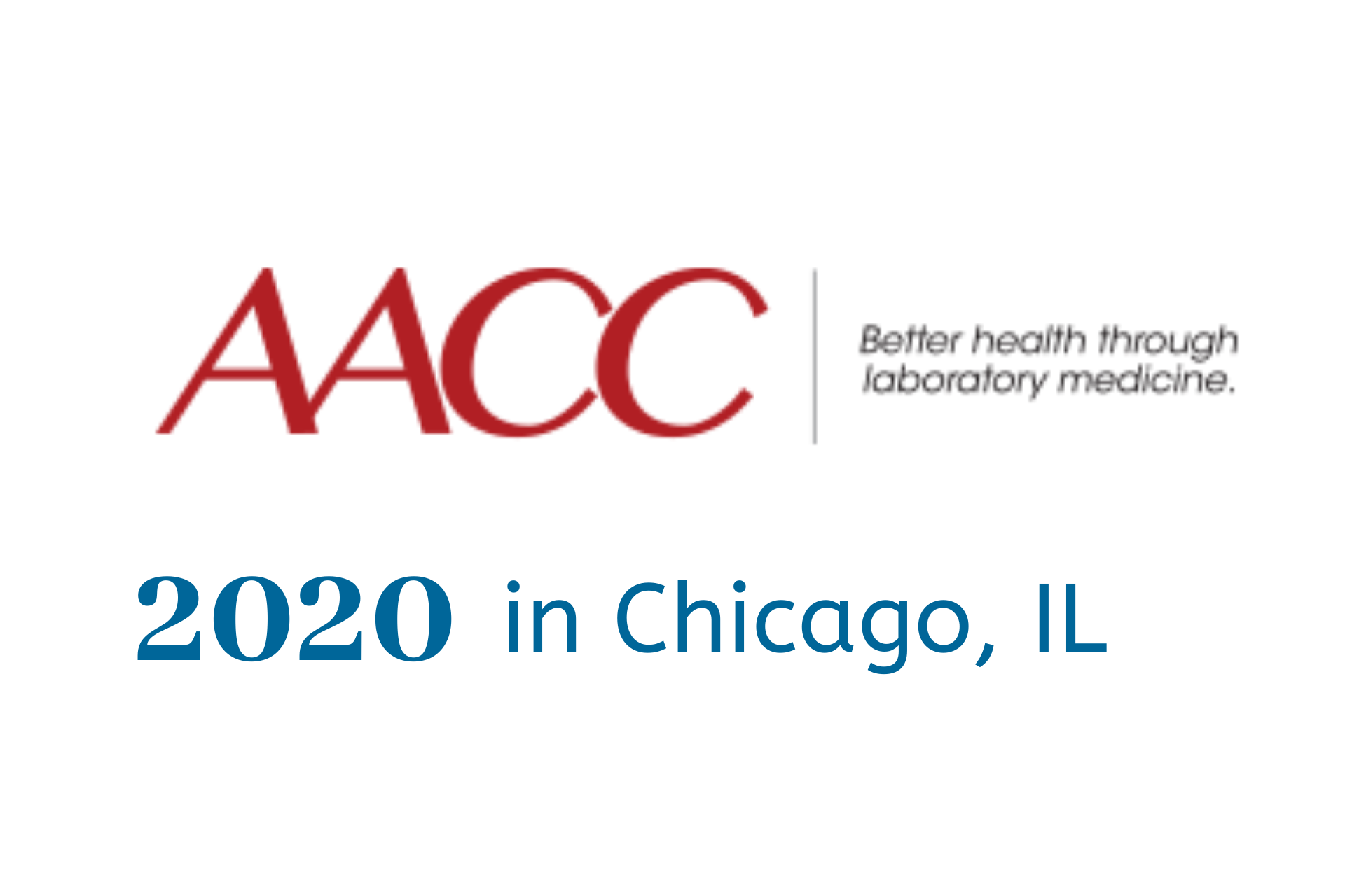 AACC 2020 AACC Annual Scientific Meeting & Clinical Lab Expo Logo for 2020 conference in Chicago, IL with Lifepoint Informatics